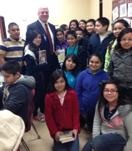 Dr. Lewis and Schneider Intermediate Students